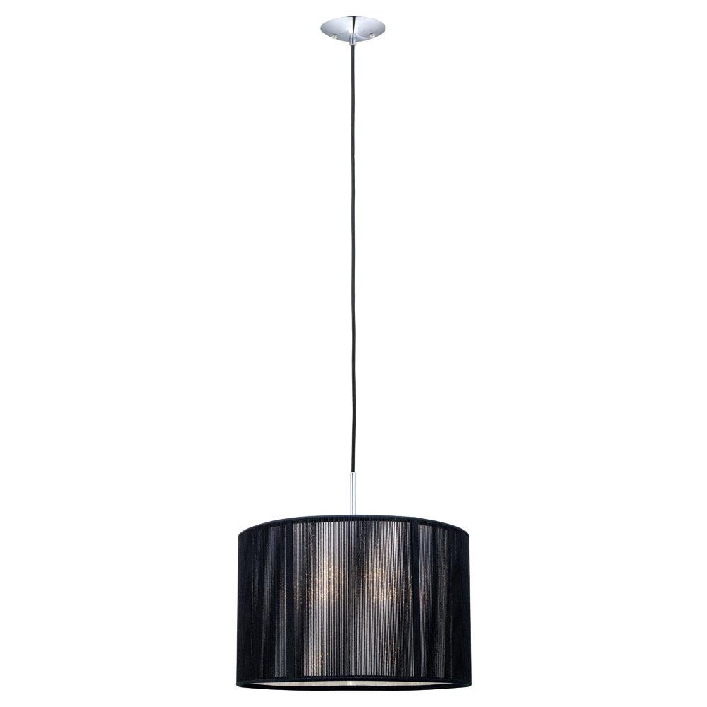 eglo 20102a one light chrome drum shade pendant
