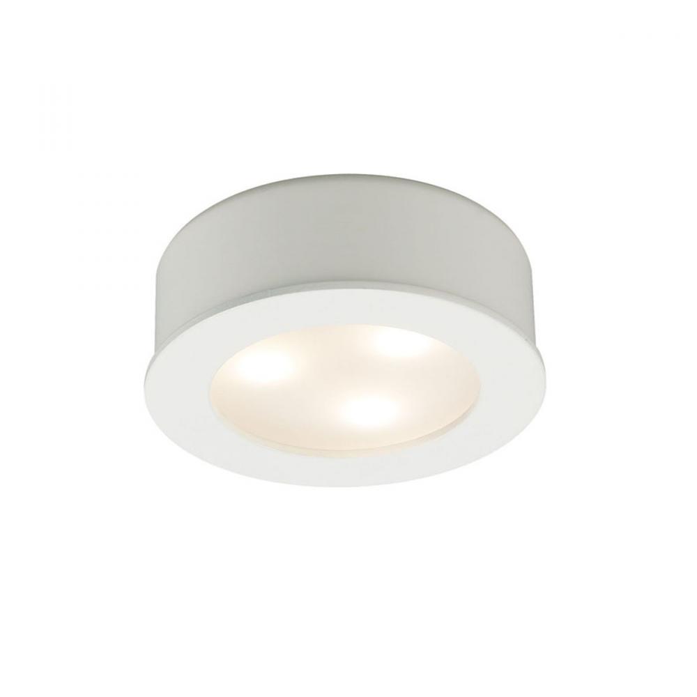 led round button lights 3x1w 3000k hr led85 wt lbu lighting. Black Bedroom Furniture Sets. Home Design Ideas