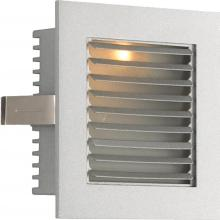 Alico WZ-104 - 1 Light Xenon Steplight For New Construction With Grey Louvre And Grey Trim