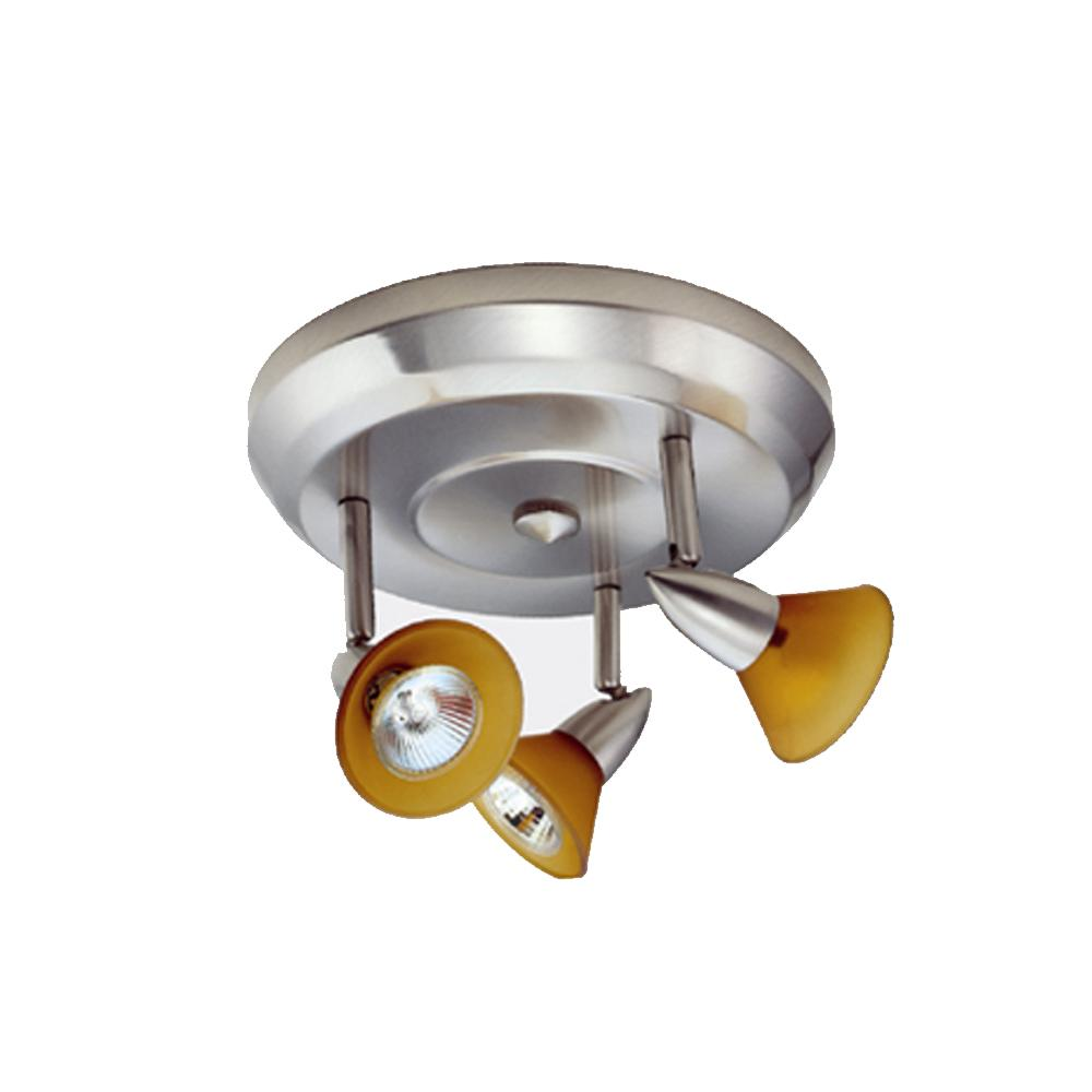 Three Light Ceiling Mount Low Voltage LT3122F BL LBU Lighting