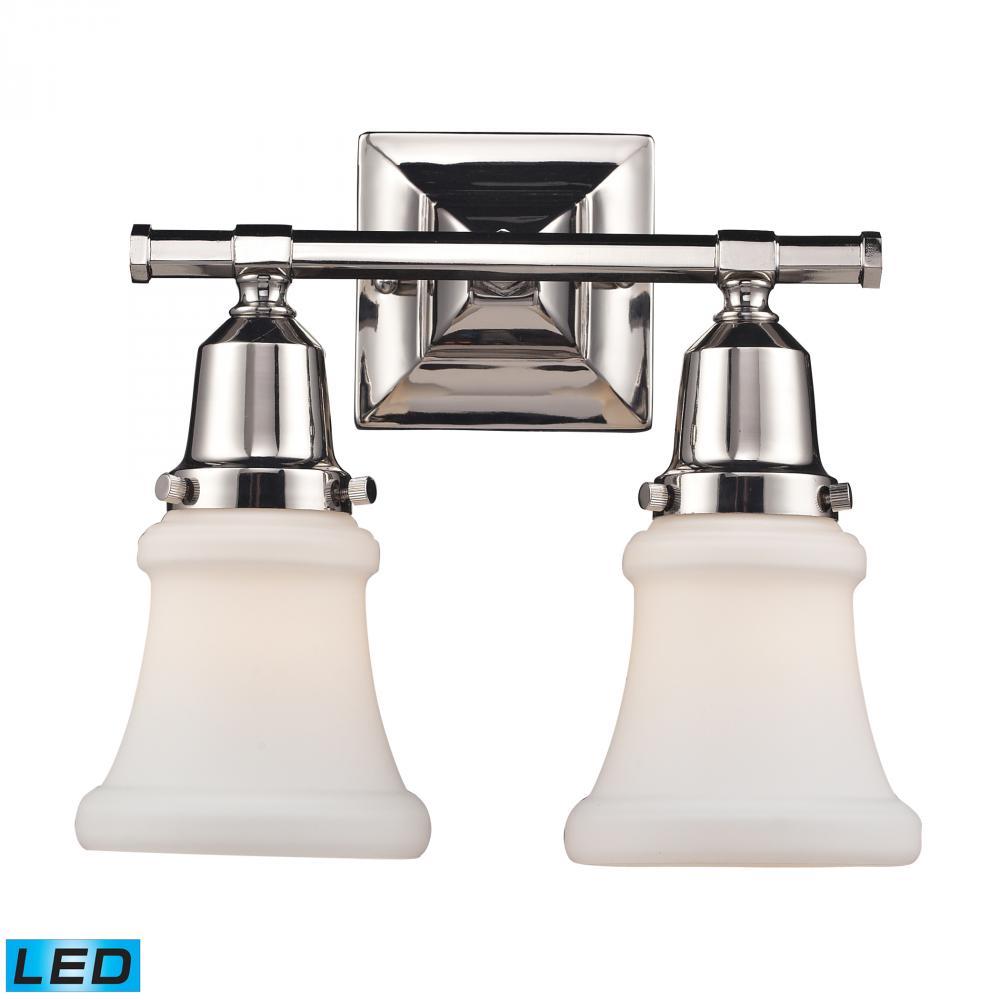 ELK Lighting 66231 2 LED   Two Light Polished Nickel Vanity