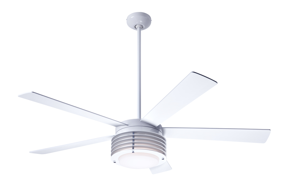 Pharos fan gloss white 52 white blades 20w led fan speed and light control 3 wire pha gw 52 wh led 002 lbu lighting