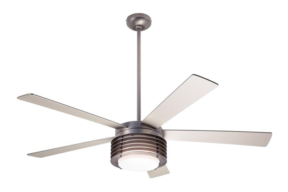 Pharos fan matte nickel 52 maple blades 20w led fan speed and light control 2 wire pha mn 52 mp led 004 lbu lighting