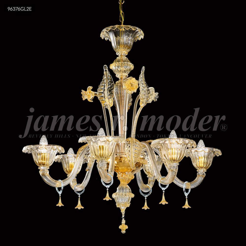 Murano collection 6 arm chandelier 96376gl2e lbu lighting aloadofball Image collections