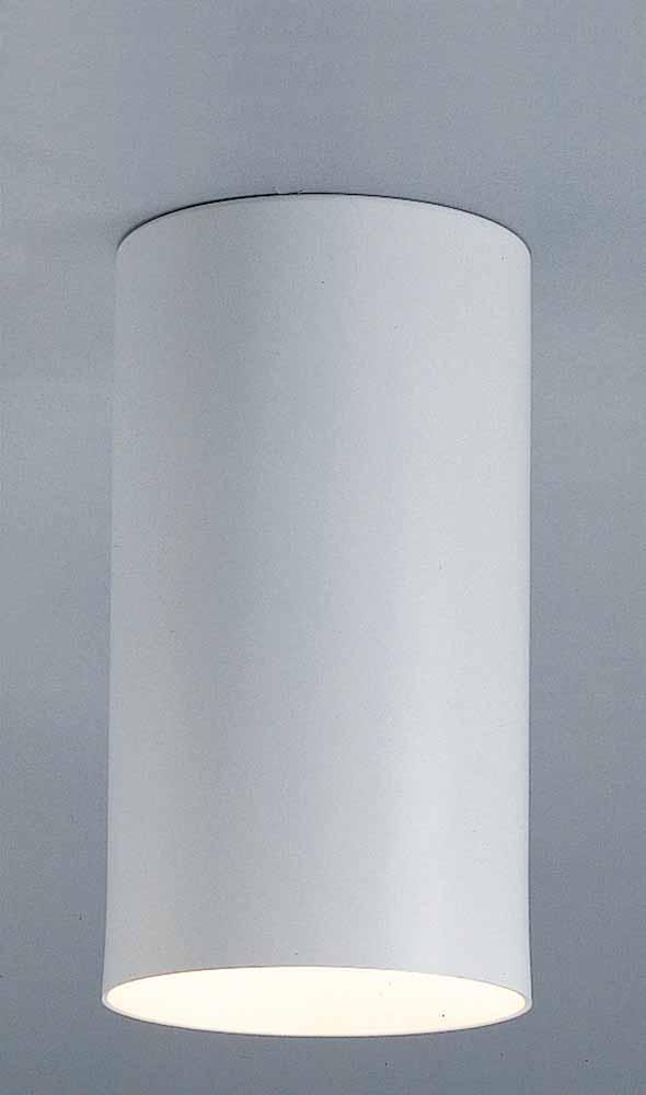 1 Light White Flush Mount Ceiling Fixture