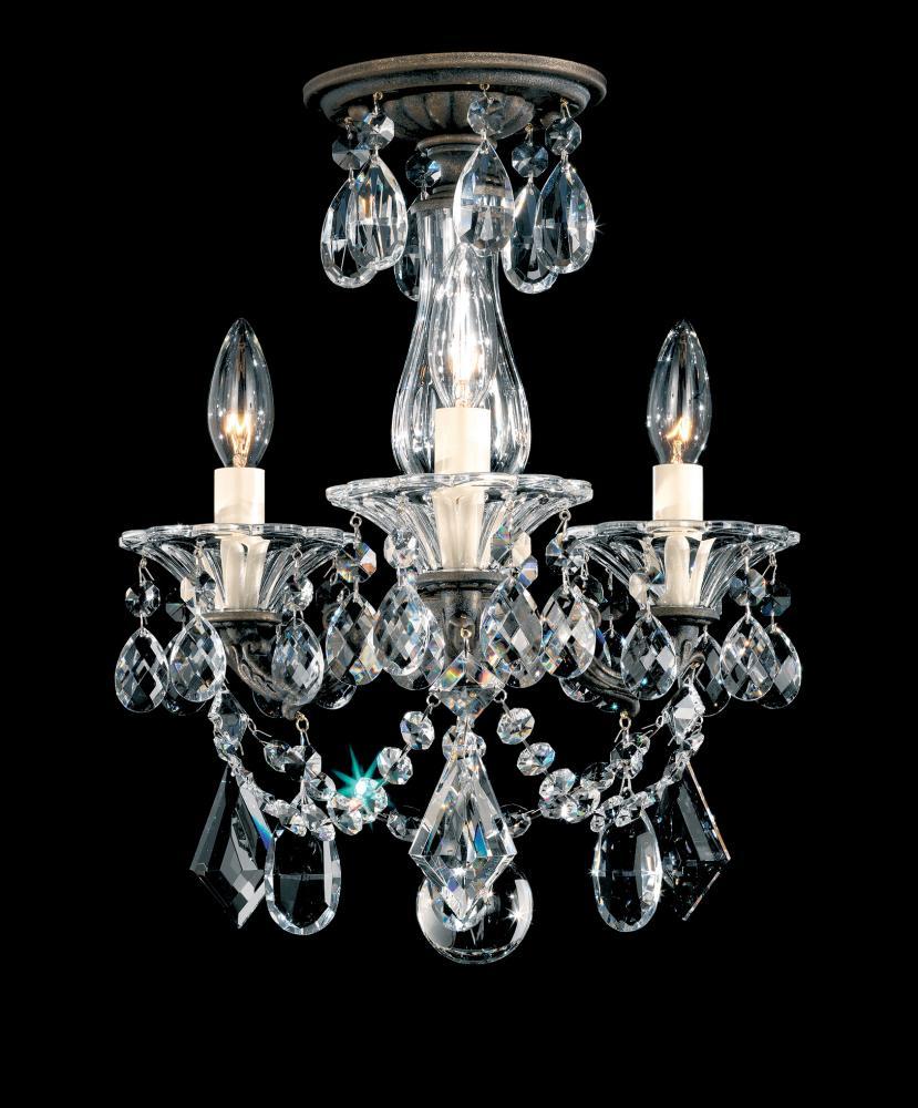 La scala 3 light 110v chandelier in heirloom gold with clear la scala 3 light 110v chandelier in heirloom gold with clear heritage crystal aloadofball Images