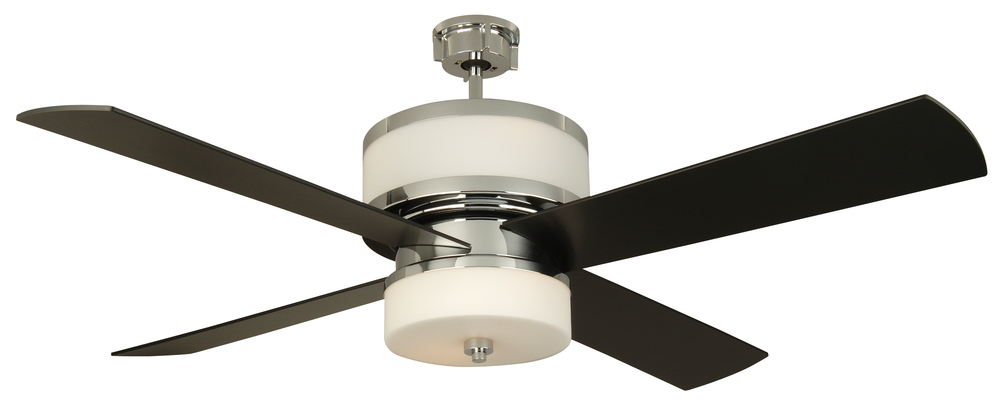 Midoro 56 ceiling fan with blades and light in chrome mo56ch4 lbu lighting