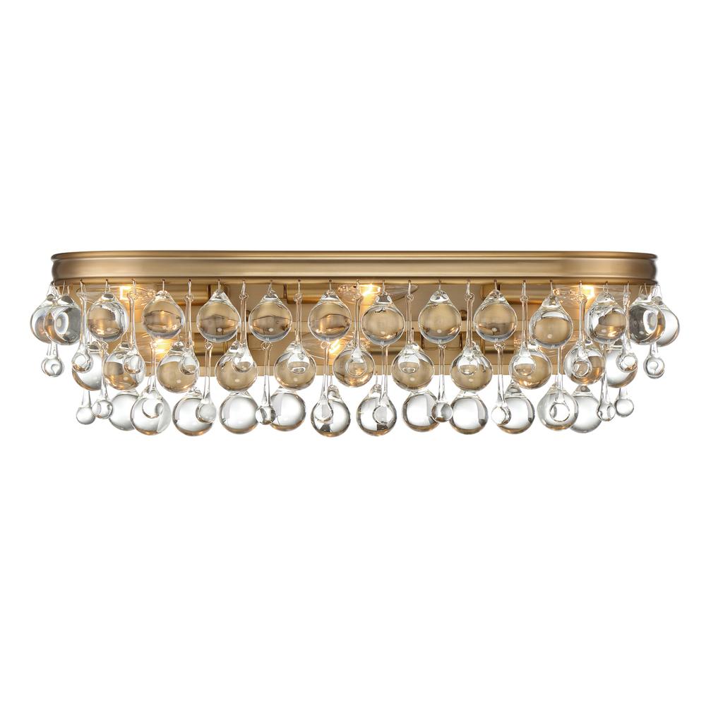 Crystorama Calypso 6 Light Vibrant Gold Vanity Light : 133-VG | LBU ...