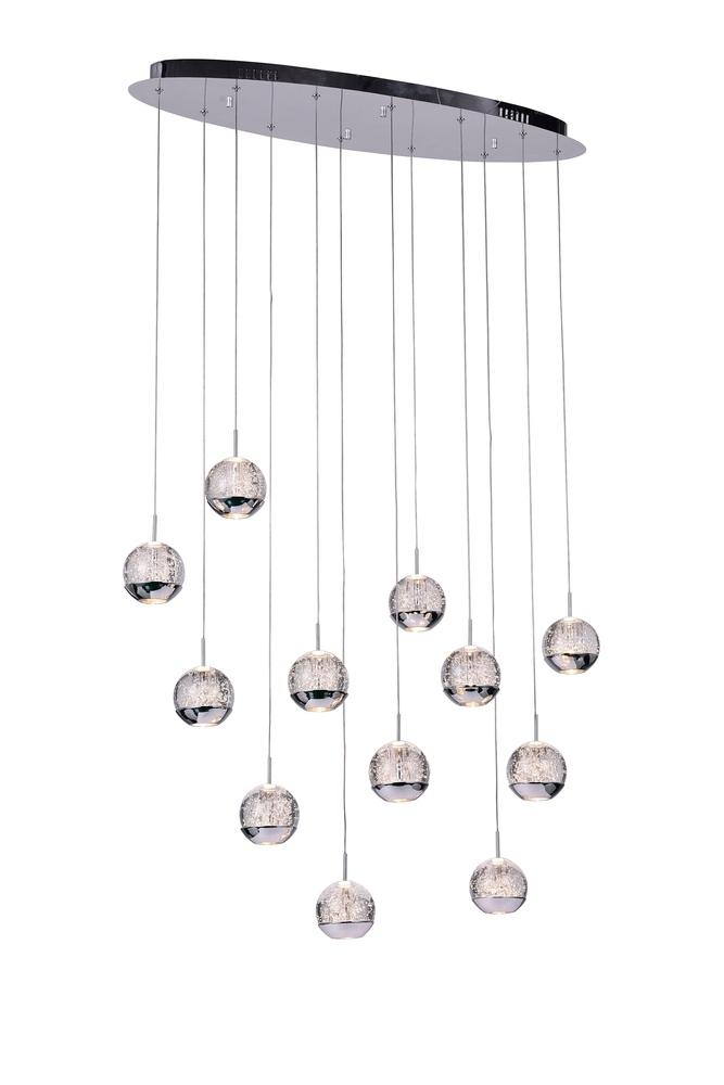 12 light multi light pendant with chrome finish 5444p34c o lbu 12 light multi light pendant with chrome finish aloadofball Gallery