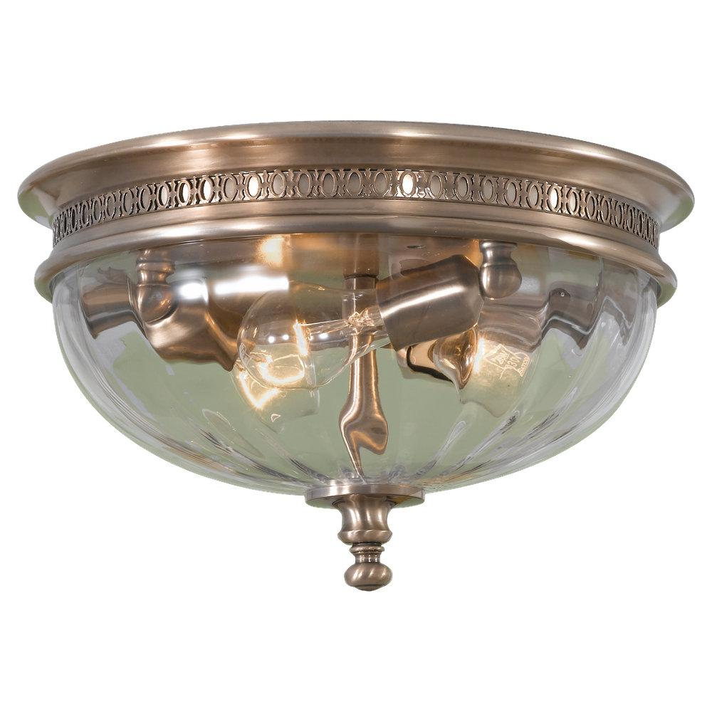 Three light brushed bronze clear optic glass bowl flush mount three light brushed bronze clear optic glass bowl flush mount fm293bv lbu lighting aloadofball Gallery