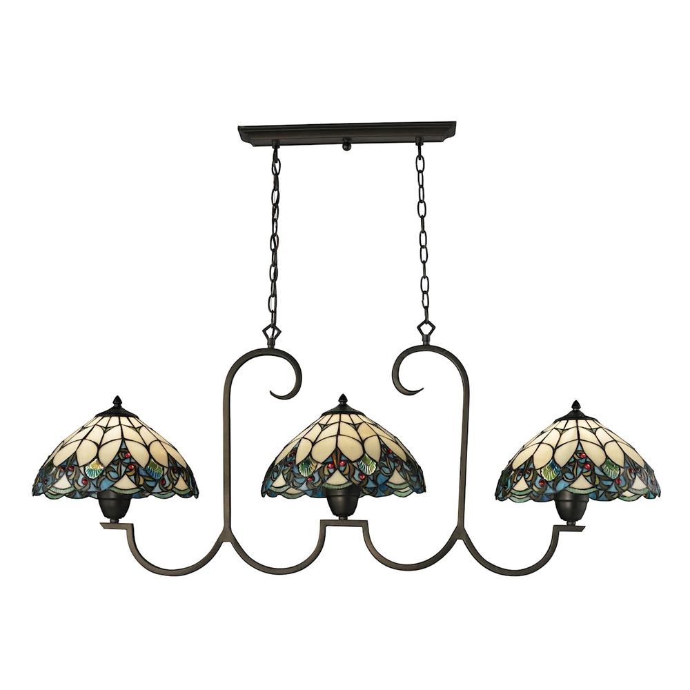 Three light tiffany bronze pool table light 70120 3 lbu lighting arubaitofo Images